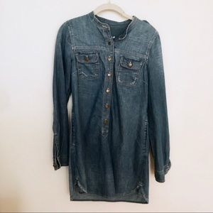 Gap Denim Chambray Button Up Dress with Pockets